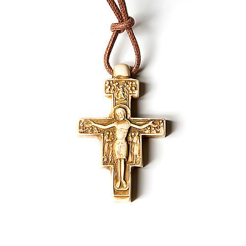Wisiorek krzyż święty Damian 2