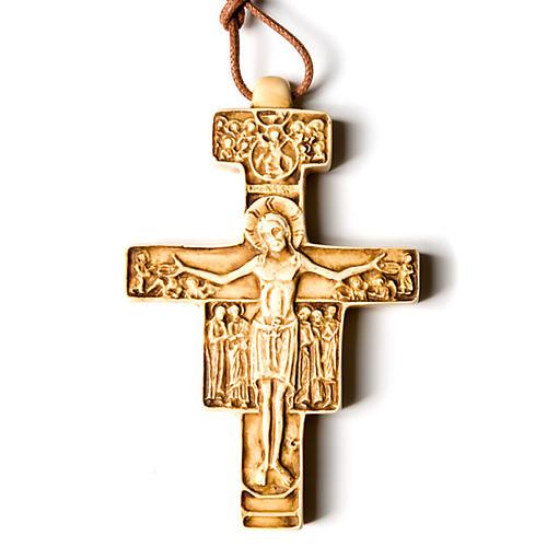 Wisiorek krzyż święty Damian 3