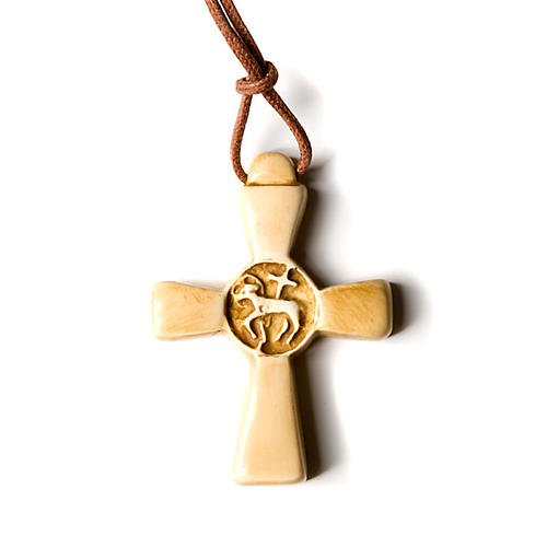 Cross pendant in Pyrenean stone 3