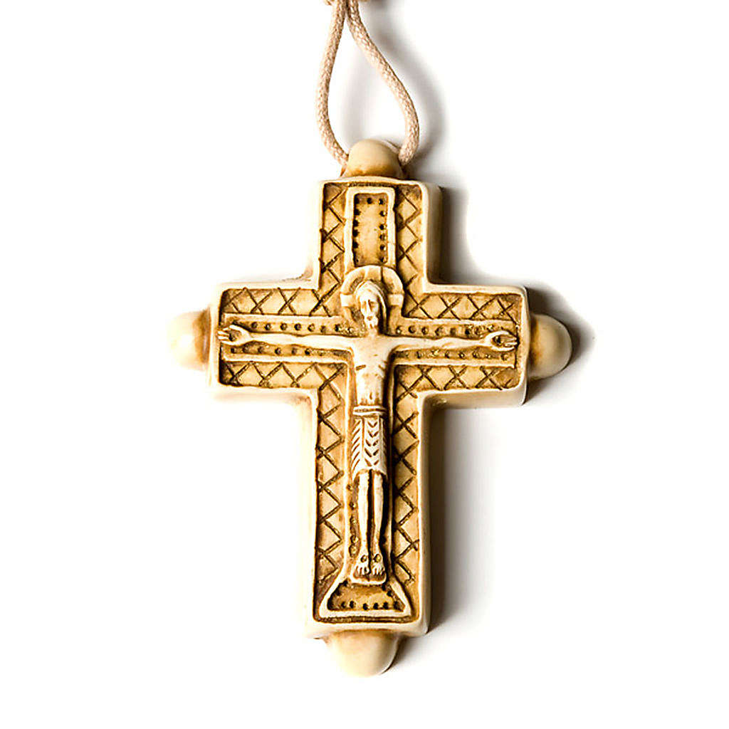Wisiorek krzyż koloru kości słoniowej 4