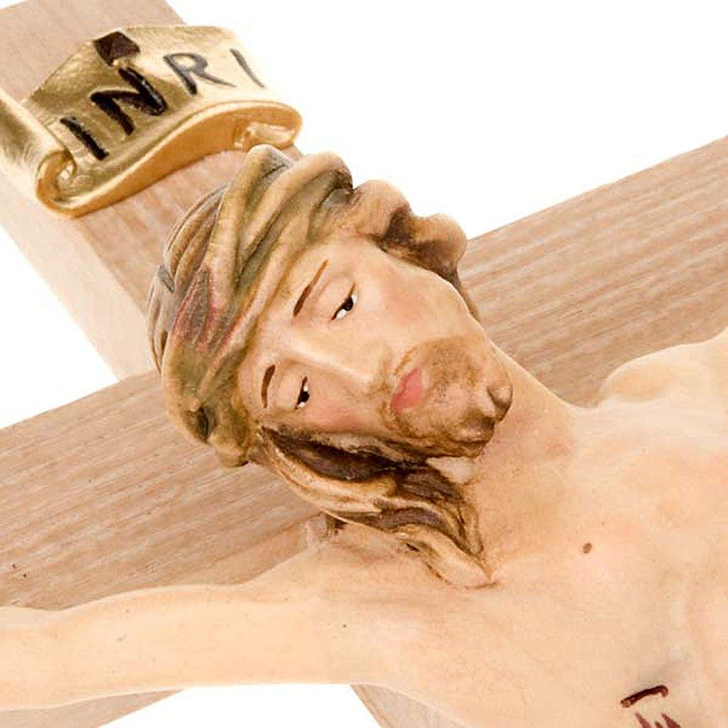 Crocefisso croce dritta veste bianca e oro 4
