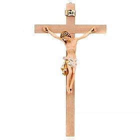 Crocefisso croce dritta veste bianca e oro s1