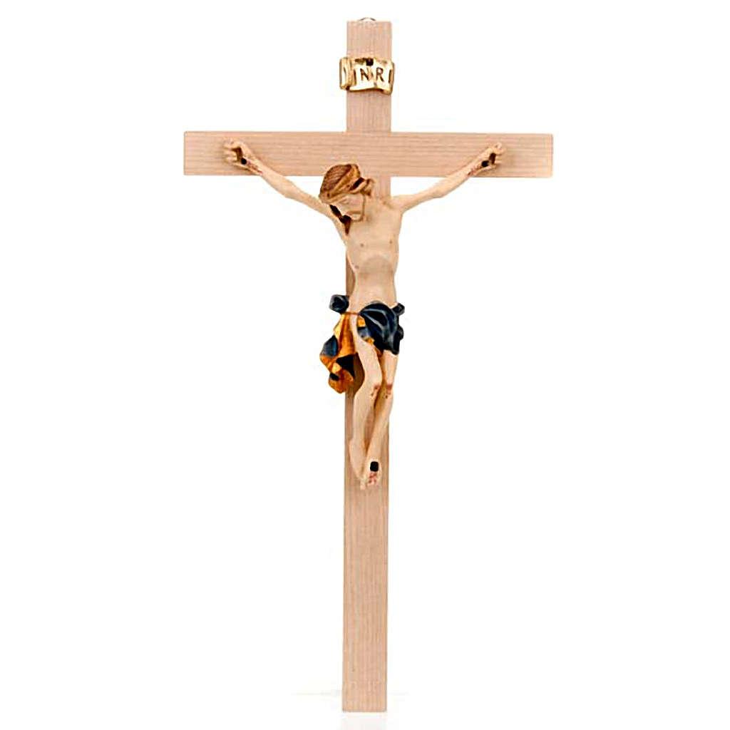 Crocefisso croce dritta veste blu e oro 4