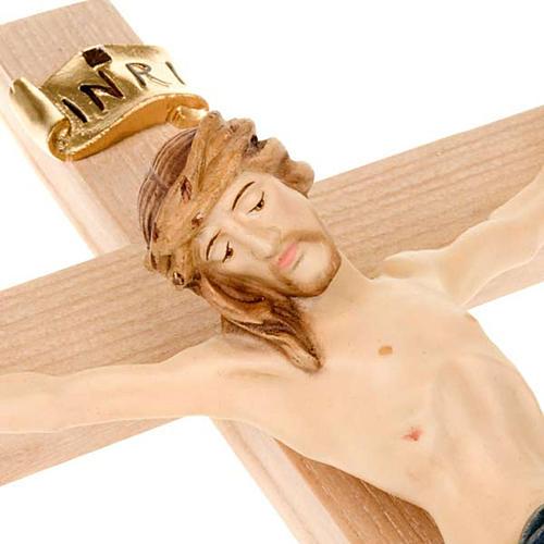 Crocefisso croce dritta veste blu e oro 2