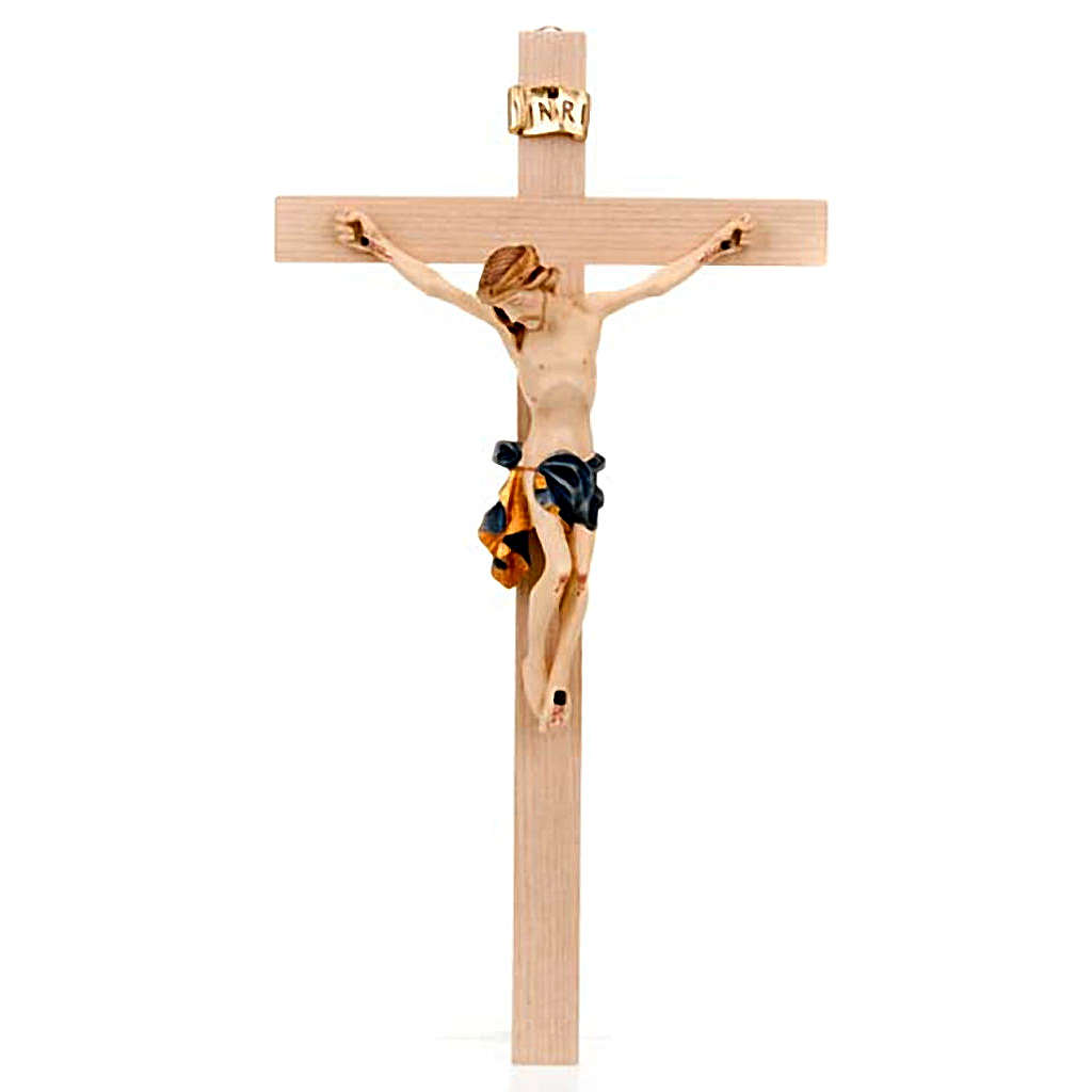 Crucifix Christ body with blue and golden vest 4