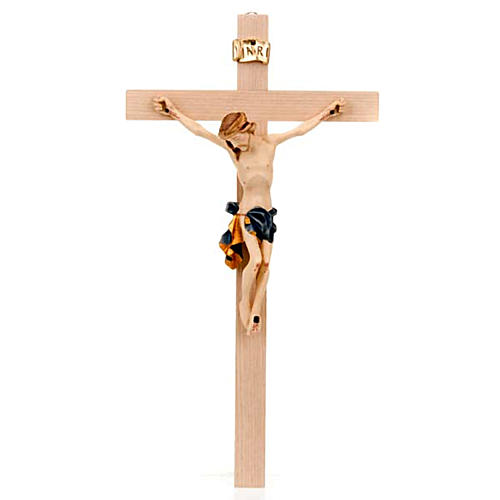 Crucifix Christ body with blue and golden vest 1