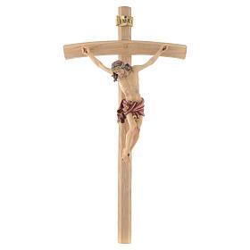 Crucifix croix courbée Corps de Christ veste rouge s1