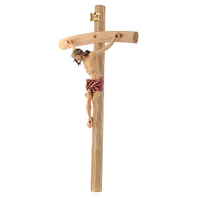 Crucifix croix courbée Corps de Christ veste rouge s2