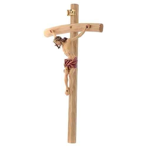 Crucifix croix courbée Corps de Christ veste rouge 2