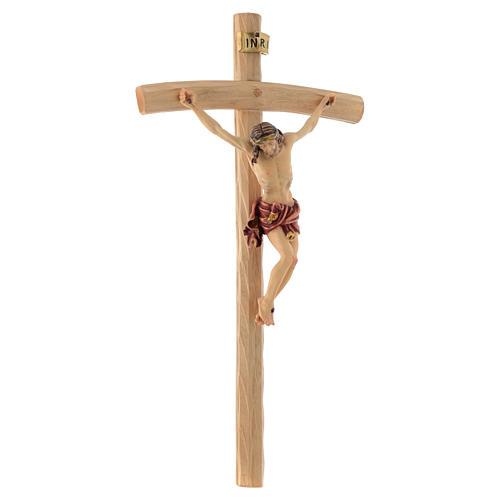 Crucifix croix courbée Corps de Christ veste rouge 3