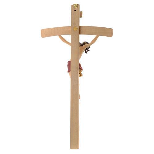 Crucifix croix courbée Corps de Christ veste rouge 4