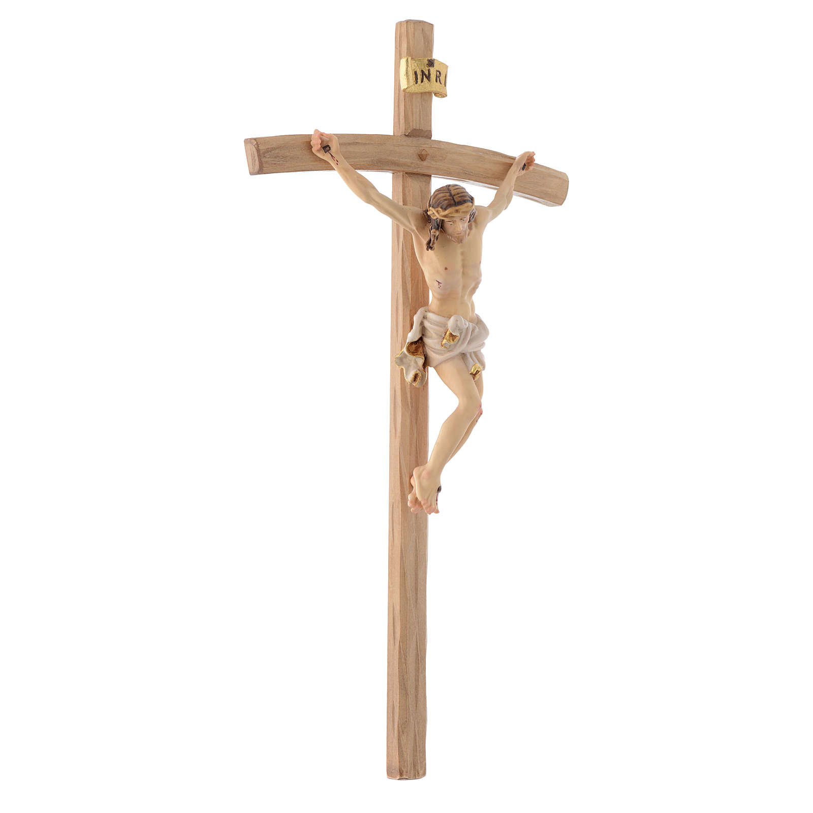Curved cross crucifix 4