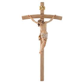 Curved cross crucifix s1