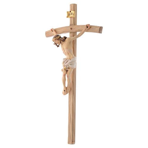 Curved cross crucifix 2