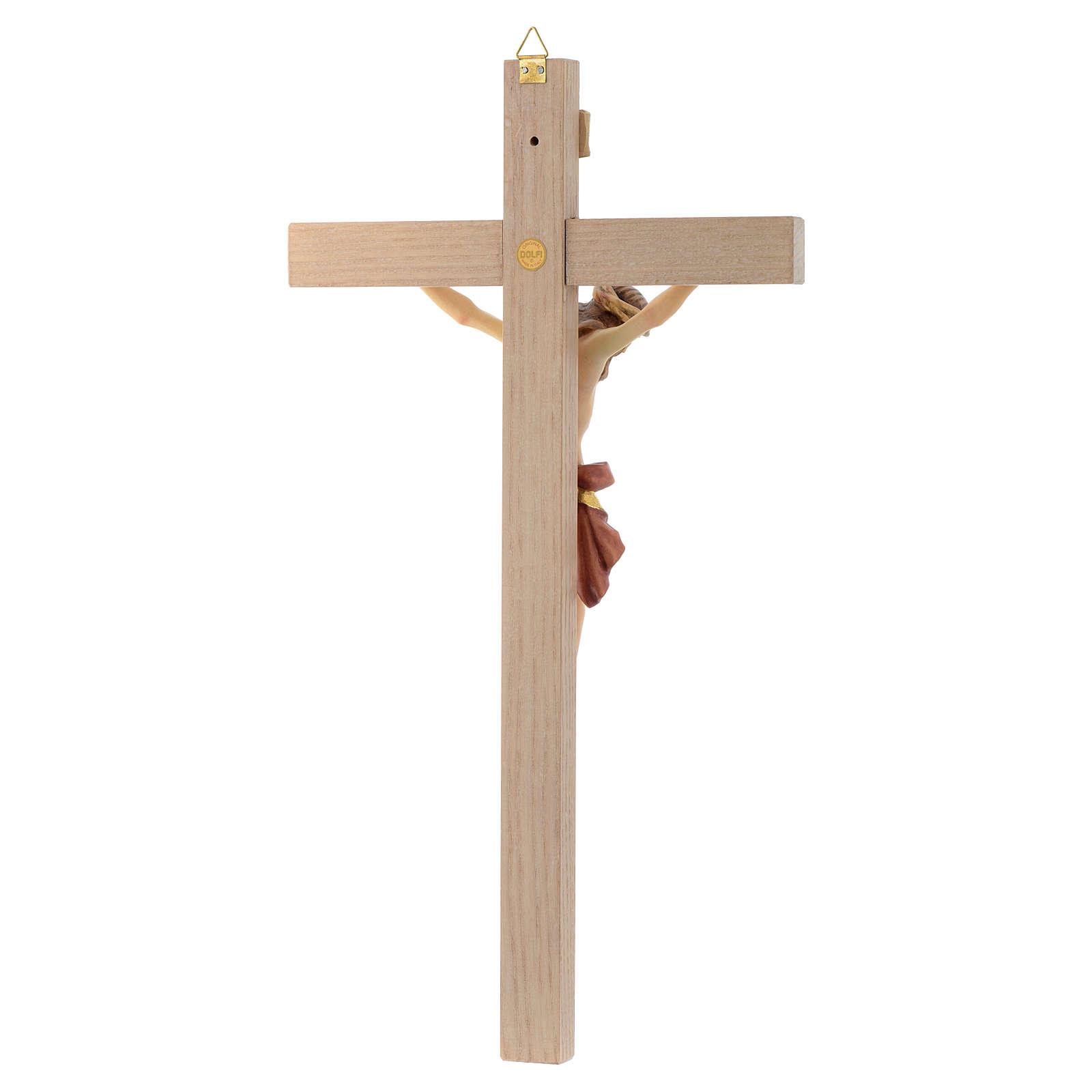 Crocefisso croce dritta veste rossa e oro 4