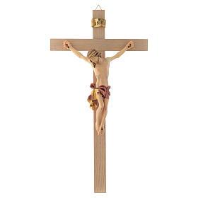 Crocefisso croce dritta veste rossa e oro s1