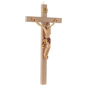 Crocefisso croce dritta veste rossa e oro s3