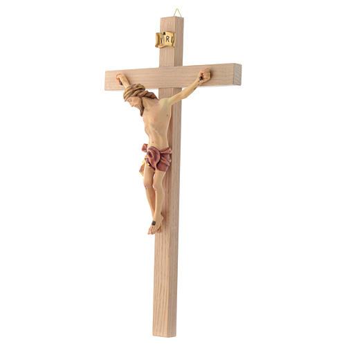 Crocefisso croce dritta veste rossa e oro 2