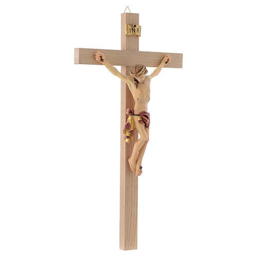Crocefisso croce dritta veste rossa e oro 3