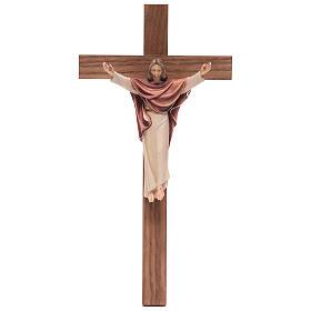 Krucyfiksy z drewna: Chrystus Król prosty krzyż