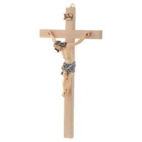 Crucifix croix droite Corps de Christ veste bleue s2