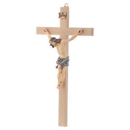 Crucifix croix droite Corps de Christ veste bleue 2