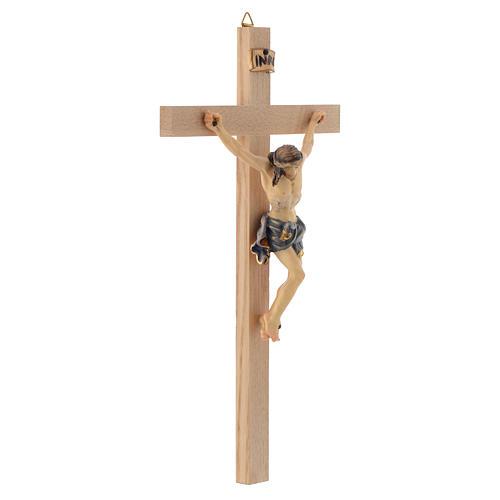 Crucifix croix droite Corps de Christ veste bleue 3