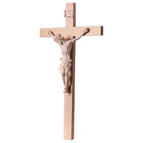 Crucifix croix droite Corps du Christ bois naturel s3