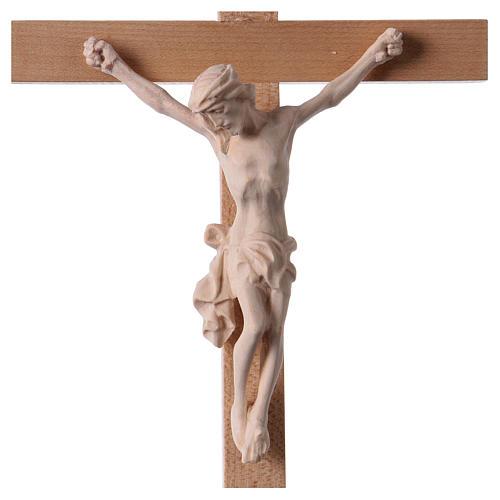 Crucifix croix droite Corps du Christ bois naturel 2