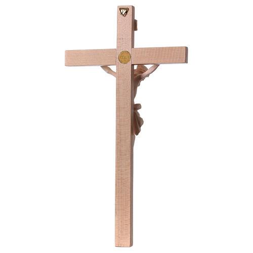 Crucifix croix droite Corps du Christ bois naturel 5