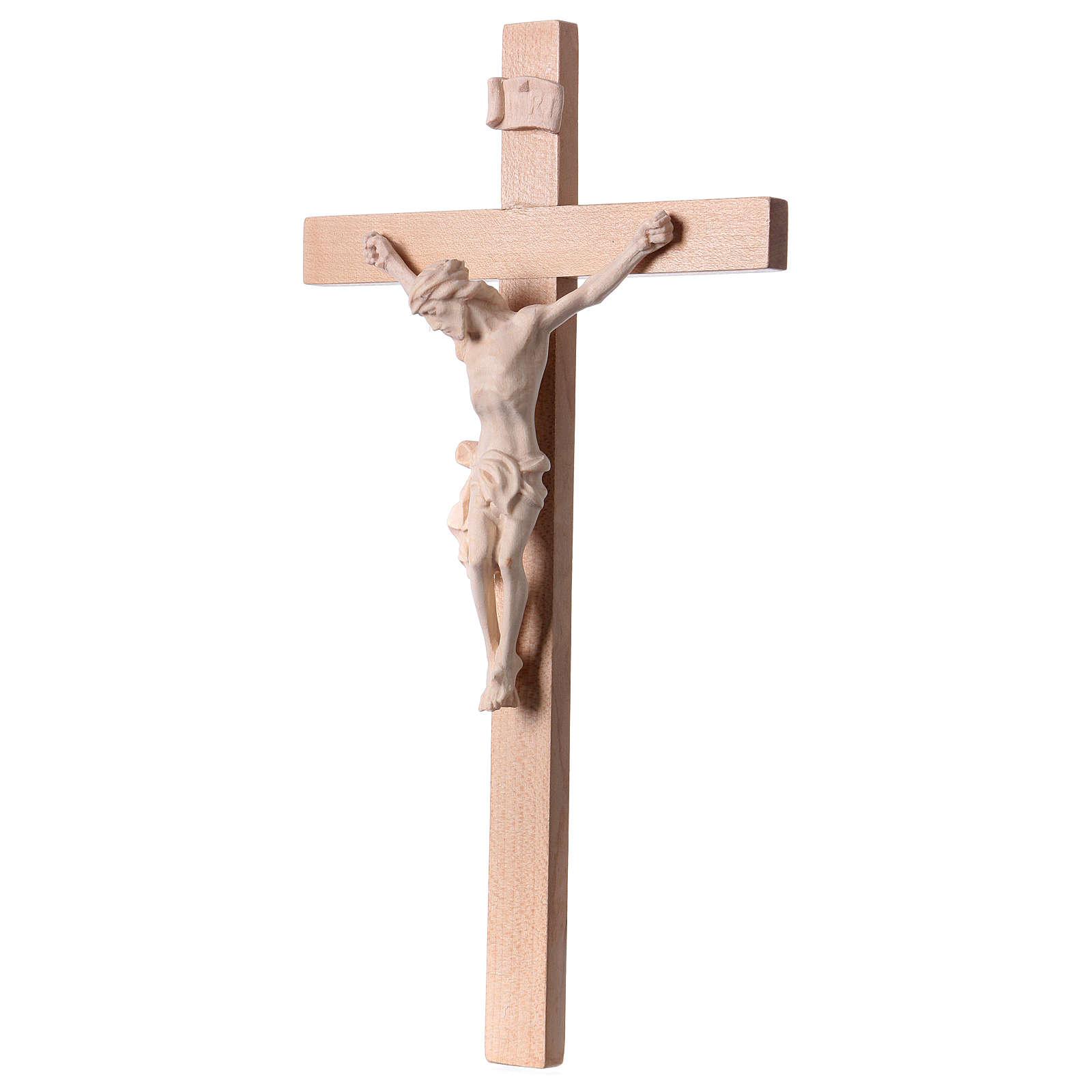 Krucyfiks na krzyżu drewno naturalne 4