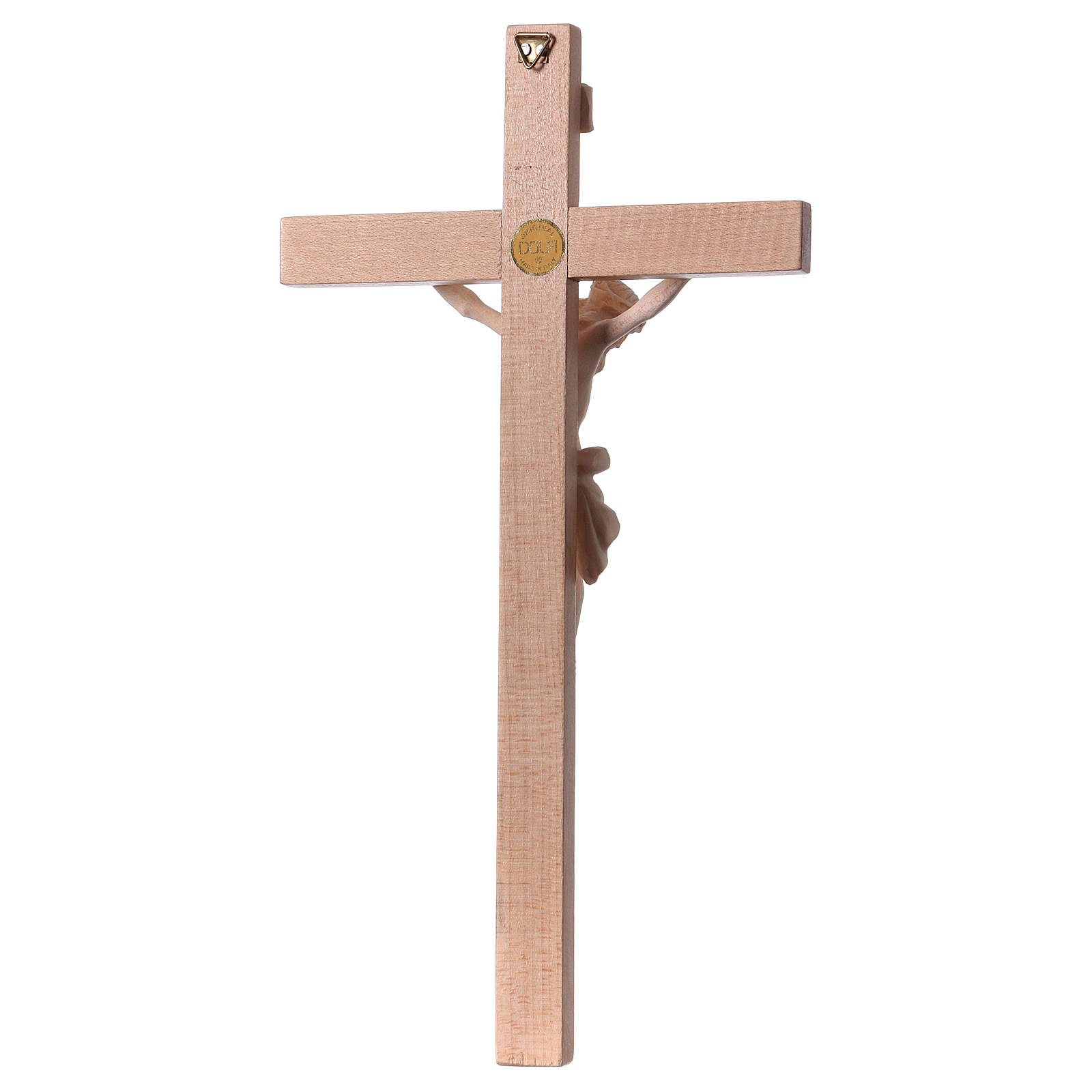 Crucifix Body of Christ in natural wood 4