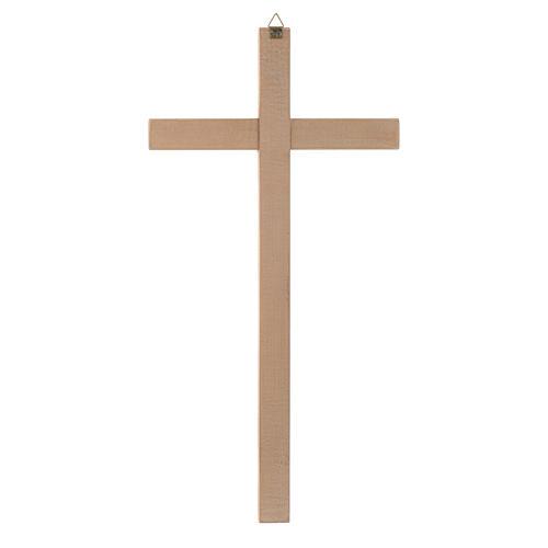 Croce dritta scolpita naturale 2