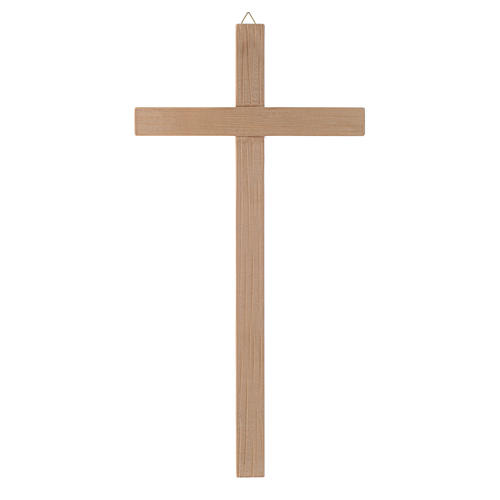 Straight cross in natural wood 1