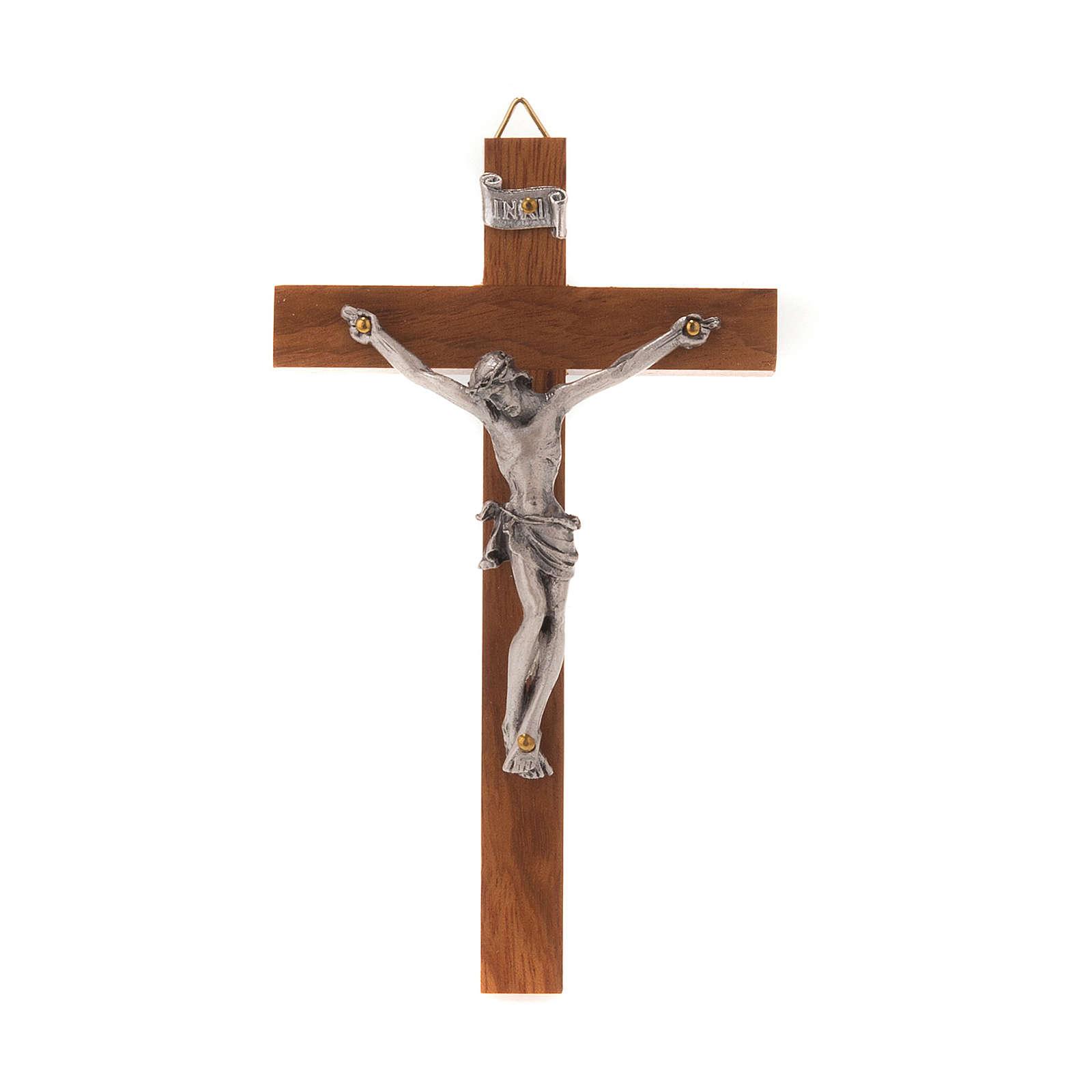 Wooden crucifix, straight 12x7 cm 4