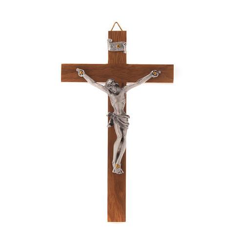 Crucifijo de madera recto 12 x 7 cm 1