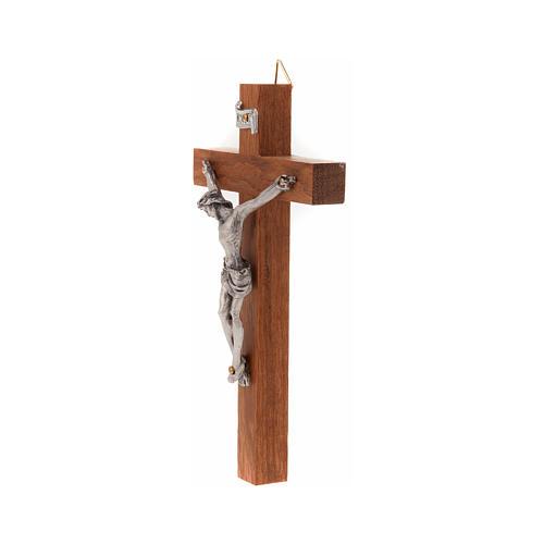 Crucifijo de madera recto 12 x 7 cm 2