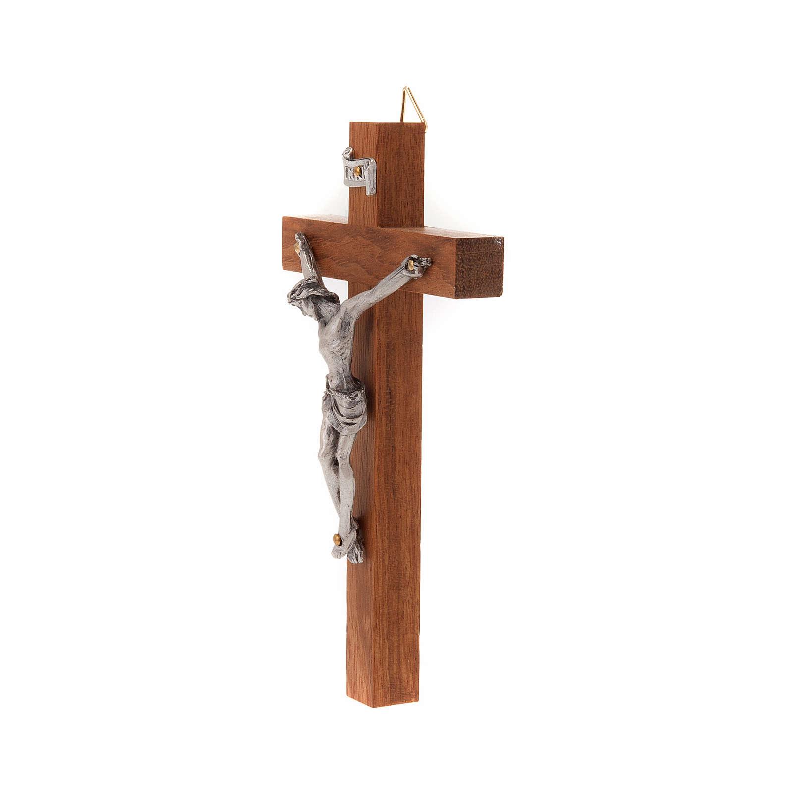 Crocefisso legno dritto 12x7 cm 4