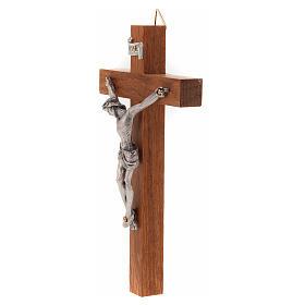 Crocefisso legno dritto 12x7 cm s2