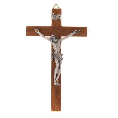 Crocefisso legno dritto 12x7 cm 1