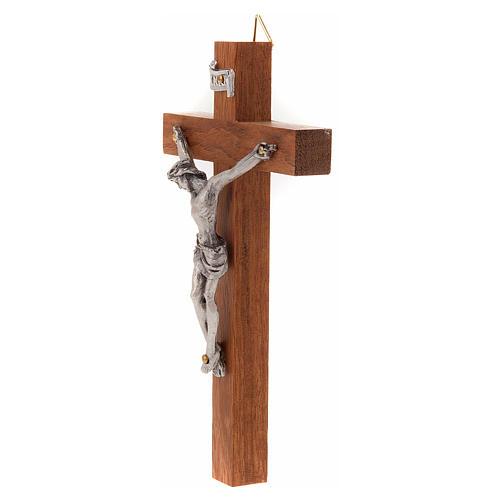 Crocefisso legno dritto 12x7 cm 2