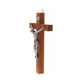 Crucifixo madeira recta 12x7 cm s2