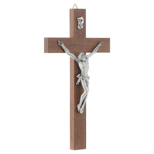 Wooden crucifix and metal body of Christ 3
