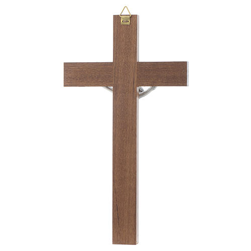 Wooden crucifix and metal body of Christ 4
