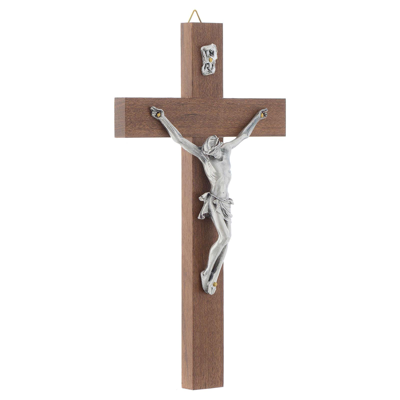 Crucifijo en madera de nuez sin base 4