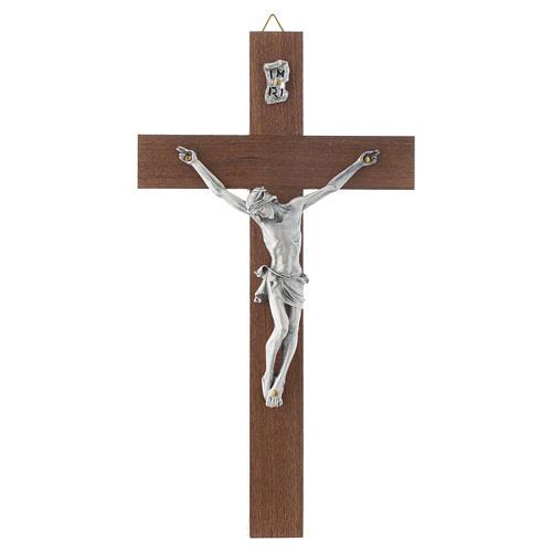 Crucifijo en madera de nuez sin base 1