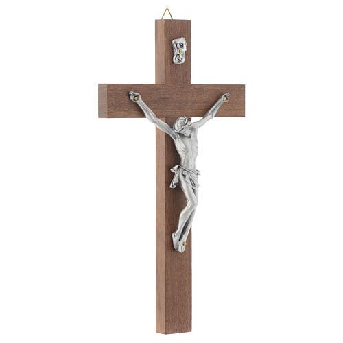 Crucifijo en madera de nuez sin base 3