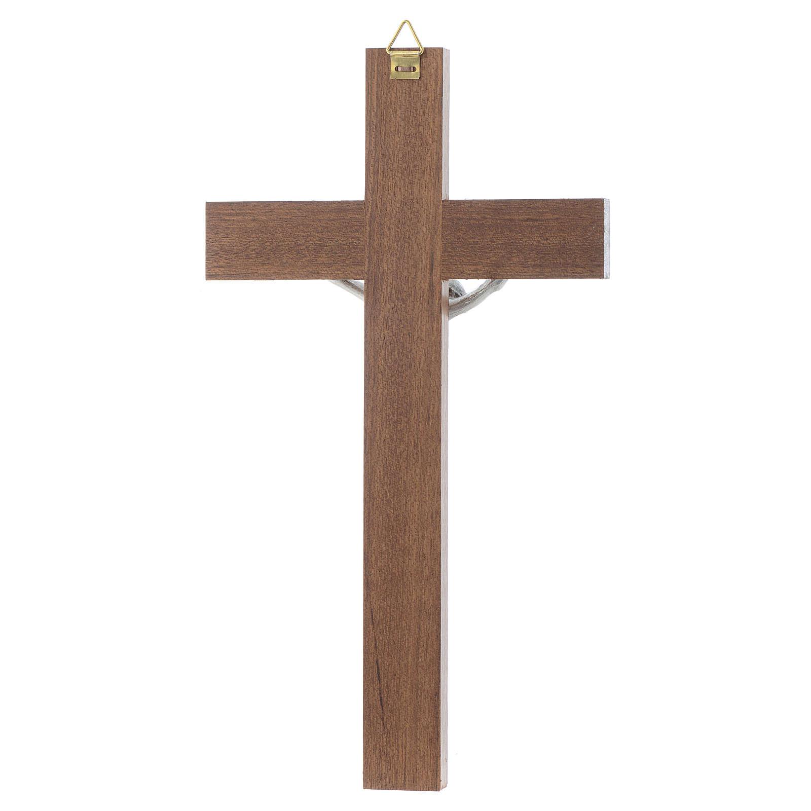 Crucifix bois de noix sans base 4