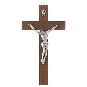 Crucifix bois de noix sans base s1