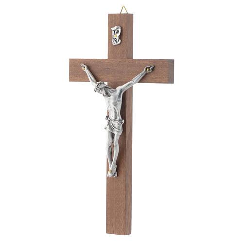 Crucifix bois de noix sans base 2